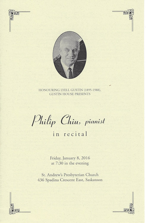 Philip Chiu, pianist in recital
